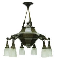 Houten Hanglamp, Jaren 40