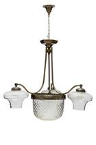 Antique Pendant Lamp, Cut Glass