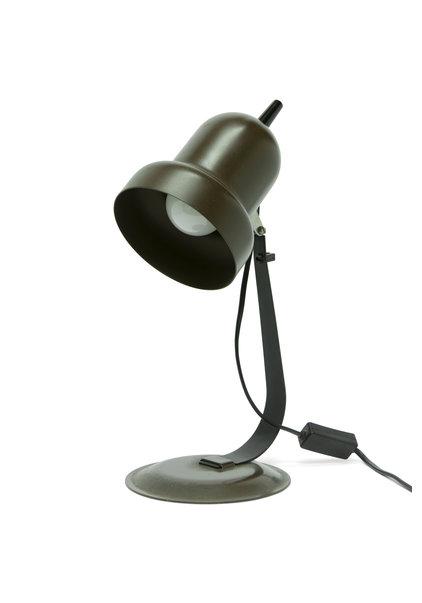 Retro Bureaulamp, Bruin, Jaren 70
