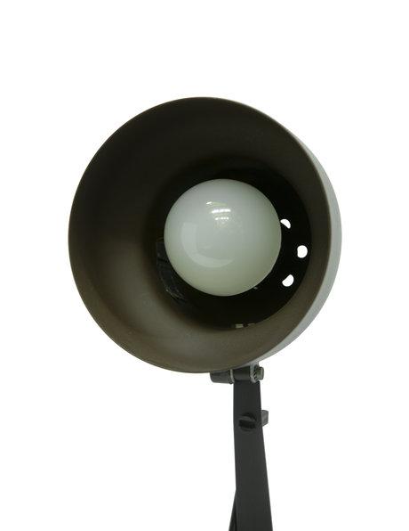 Retro bureaulamp, bruin en zwart, ca. 1970