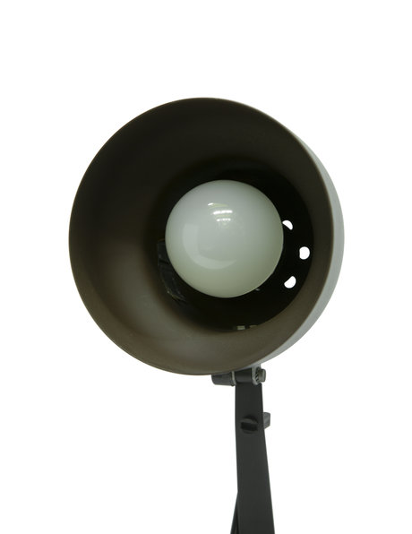 Retro desk lamp, brown and black, 1970s