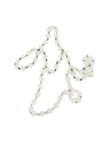Beaded strand with frosted (matt) glass beads for chandelier