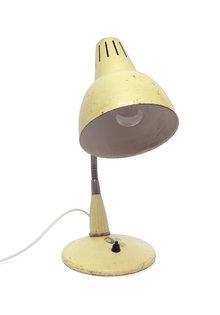 Industriele Bureaulamp, Jaren 50, Creme