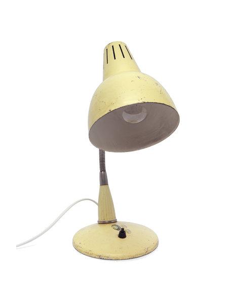 Industriele bureaulamp, creme-kleurig, ca. 1950