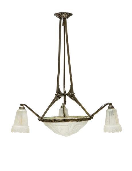 Art Deco hanglamp, Maynadier, jaren 30