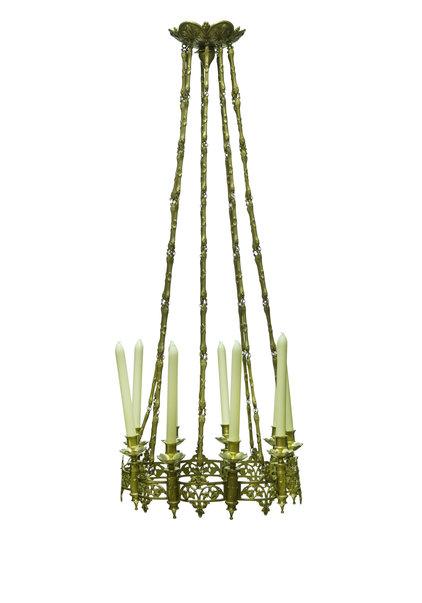 Koperen Hanglamp, Kaarsen Kroonluchter