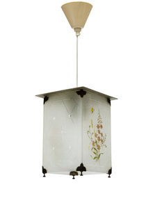 Hanglamp, Kleine Lantaarn, Vierkant, jaren 40