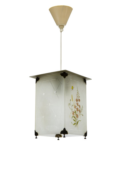 Pendant Lamp, Small Lantern, Square, 1940s
