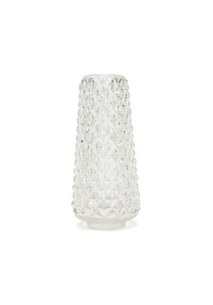 Glazen Lampenkap, Vintage, Cypresvormig, Jaren 50