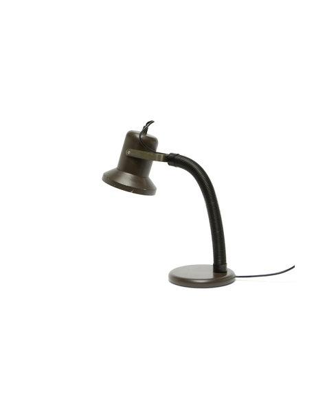 bureaulamp, bruin en zwart, ca. 1960