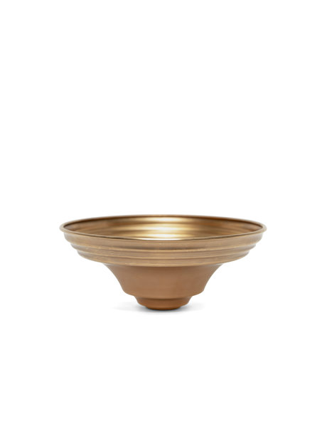 Ceiling plate, red copper, 14.0 cm / 5.5 inch diameter, M10 hole