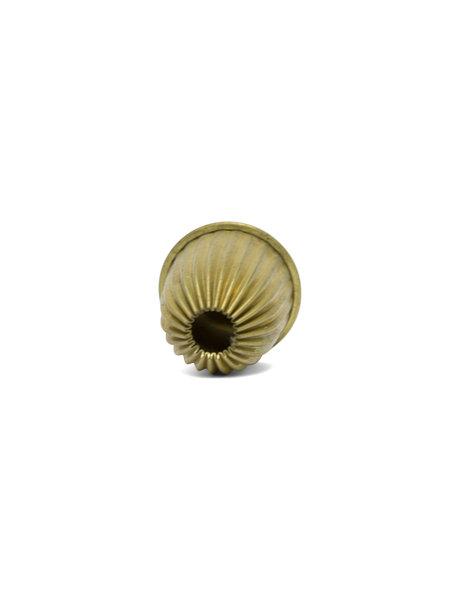 Koperen kraal, goud-bruin gekleurd