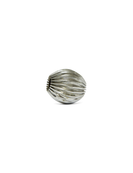 Large silver-coloured metal bead