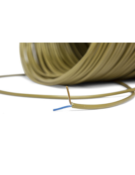 Gold colour lamp cable, round, 2x0.75