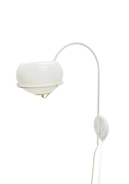 Wall Lamp, Arc Lamp, White, 1960s