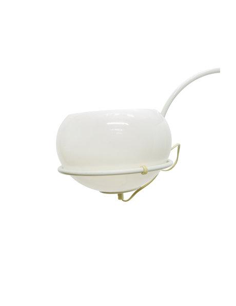 retro wandlamp, wit, booglamp, ca. 1960