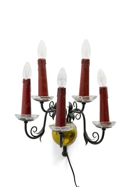 Antieke Wandlamp, met 5 Kaarsen, Jaren 30