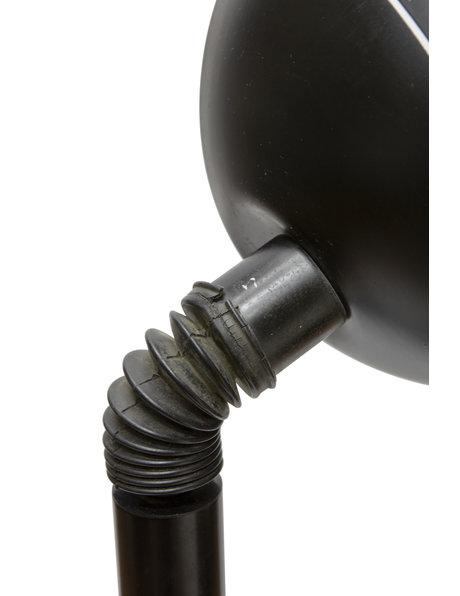 Zwarte vintage vloerlamp, ca. 1970