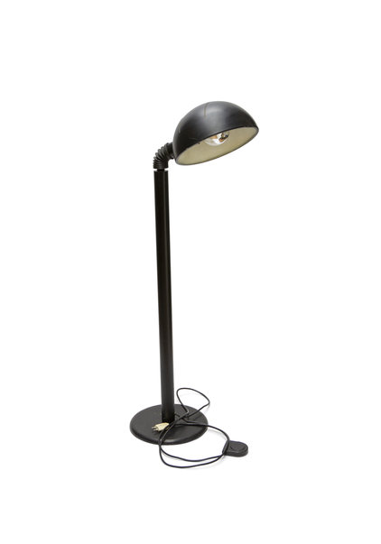 Solid Vintage Floor Lamp, Black Metal
