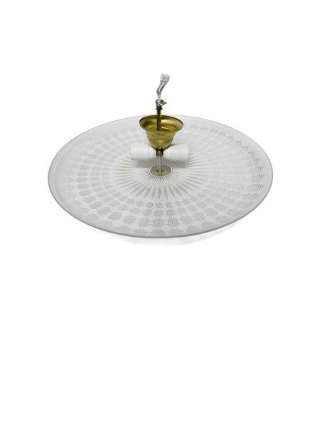 Lamp-ophanging, voor glazen schaal