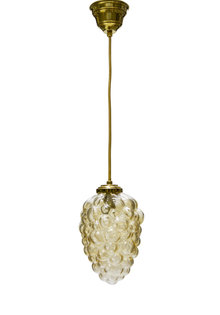 "Vintage Hanglamp ""Gouden Druiventros"", Jaren 60"