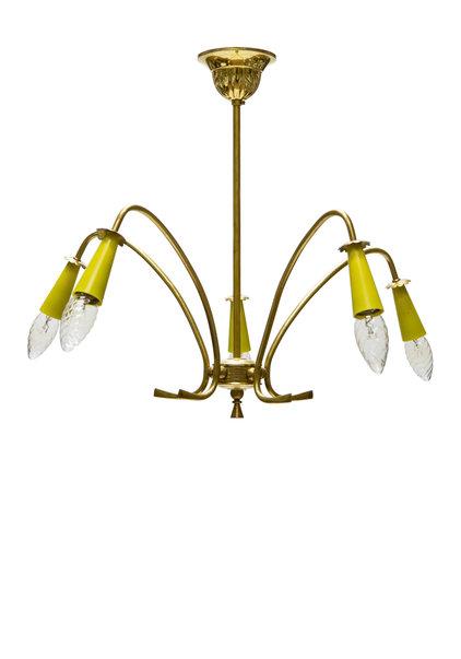 Vintage Hanglamp, Sputnik Stijl, Jaren 50, Koper