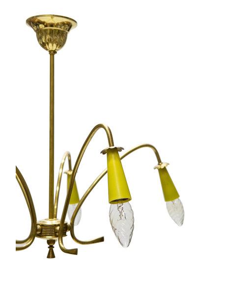 Sputnik hanging lamp, copper, 1950s