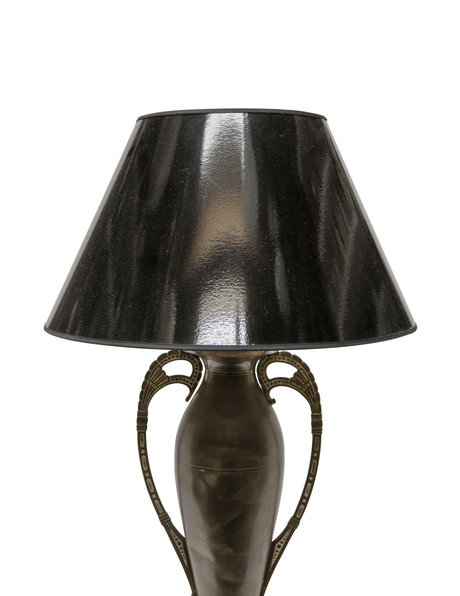 Old table lamp, copper base, 1950s