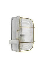 Industriele Wandlamp, Rechthoekig, met Kooi