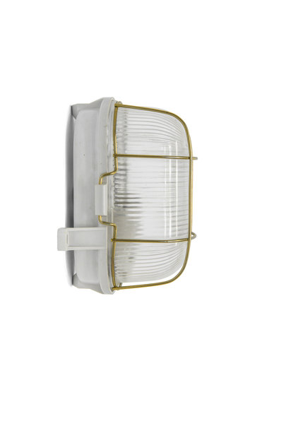 Industrial Wall Lamp, Rectangular, with Cage