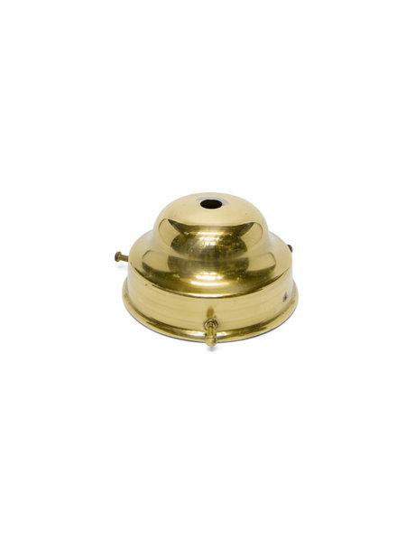 Vintage lampglas-drager, goudkleurig, 8 cm greep