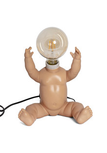 Vintage Table Lamp, Old Doll, 1970s