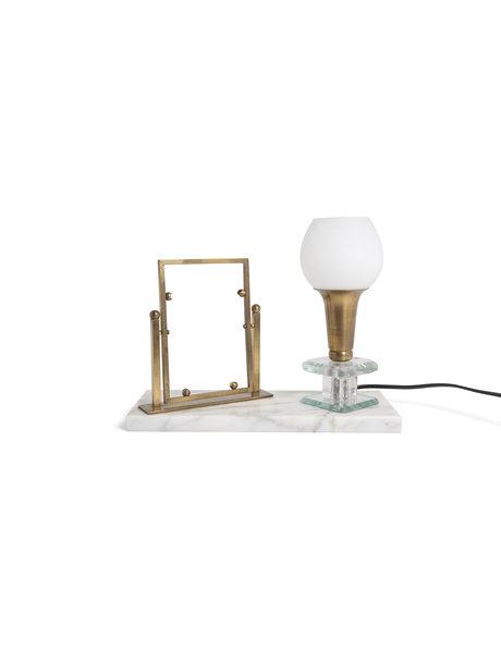 Klassieke tafellamp met marmer, ca. 1930