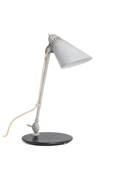 Industriële Bureaulamp, Licht Grijs Metaal, jaren 50