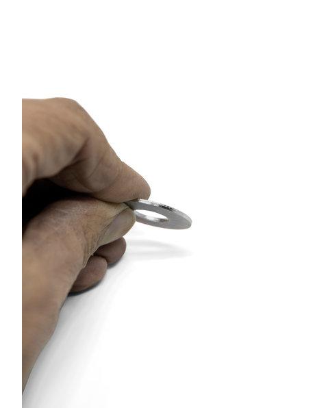 Metalen afsluitring, 2.5 cm, M10 opening