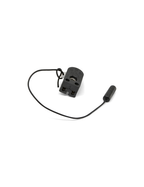 Black pull cord for wall switch, length: 20.0 cm / 7.9 inch