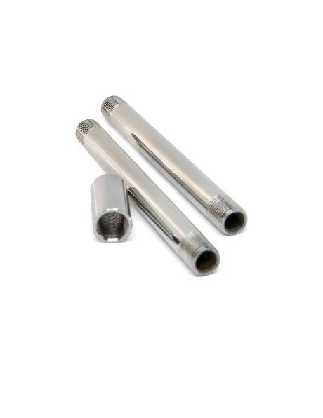 Coupling piece, 2.5 cm, silver colour, 1.0 cm / .39 inch internal