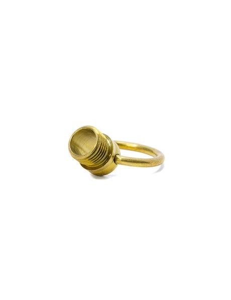 Hanging loop, M10 screw thread, brass