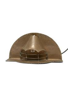 Wandlamp , Rood Koper, Jaren 30, Openhaard
