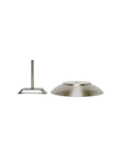 Ronde afdekplaat voor glazen lampenkap, mat nikkel