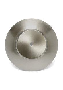 Afdekplaat voor Lampglas,  Mat Zilver, 19.5 cm diameter,