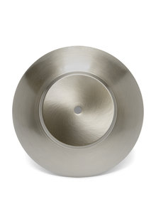 Cover Plate for Lamp Glass, Matt Silver, 19.5 cm / 7.7 inch Diameter,