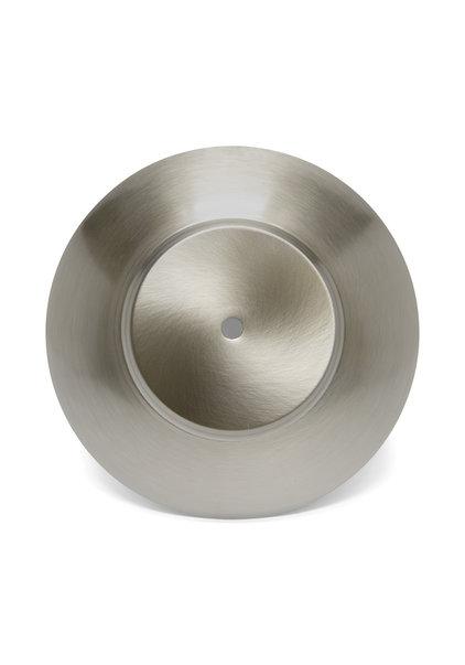 Cover Plate for Lamp Glass, Matt Silver, 19.5 cm / 7.7 inch Diameter,