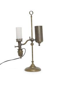 Antique Table Lamp, Copper, (Converted) Carbide Lamp