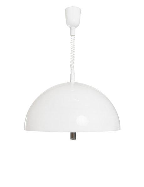 hanglamp van wit kunststof, ca. 1960