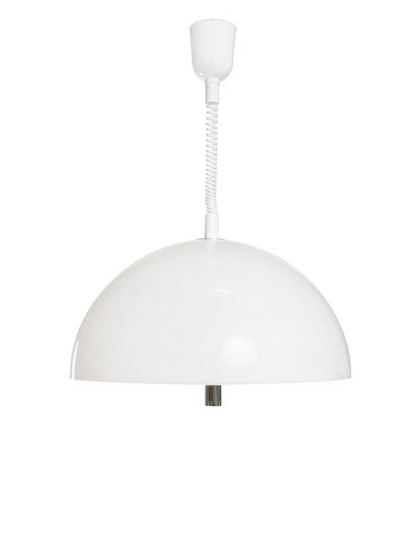 pendant lamp made of white synthetics, 1960s