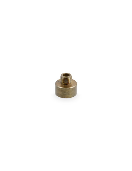 Reducing piece, M10x1 to 3 / 8th gas, brass