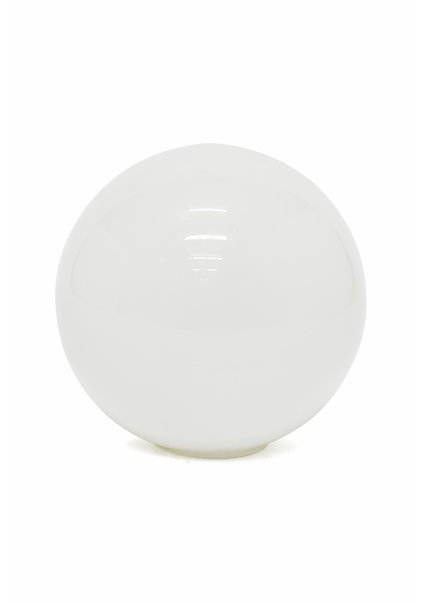 White Glass Sphere Diameter: 12 cm  (5 inch)