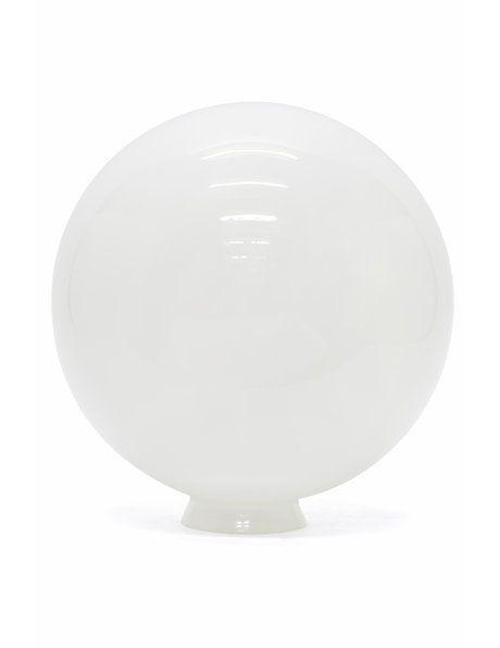 White lamp glass, sphere of 25 cm / 9.8 inch diameter