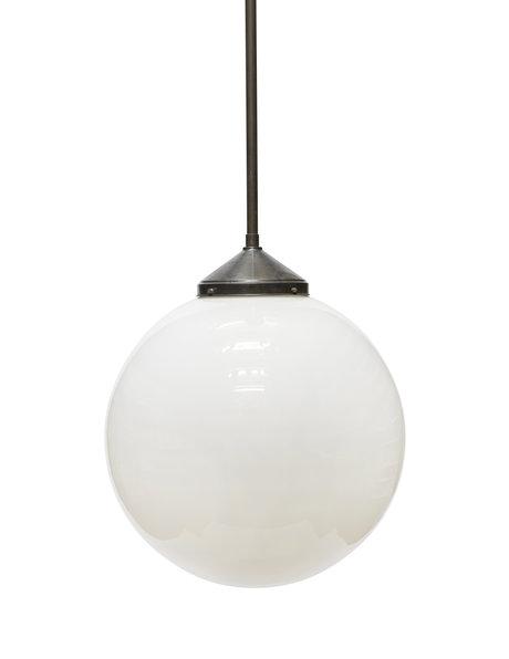 Hele grote hanglamp,  50cm witte glazen bol
